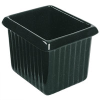 Tablecraft CW1520HGNS 1 Qt. Hunter Green with White Speckle Cast Aluminum Rectangle Server with Ridges