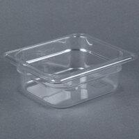 Carlisle 3068307 StorPlus 1/6 Size 2 1/2 inch Deep Clear Food Pan