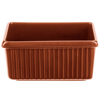 Tablecraft CW1530CP 3 Qt. Copper Rectangle Server with Ridges