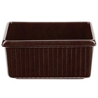 Tablecraft CW1530MIS 3 Qt. Midnight Speckle Rectangle Server with Ridges