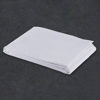 Flat Hotel Sheet - 300 Thread Count Cotton / Poly - White King Extra-Long 114 inch x 120 inch - 12 / Case