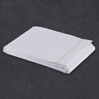 Flat Hotel Sheet - 200 Thread Count Cotton / Poly - White King Extra-Long 114 inch x 120 inch - 12 / Case