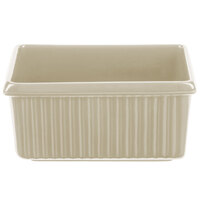 Tablecraft CW1530IV 3 Qt. Ivory Rectangle Server with Ridges