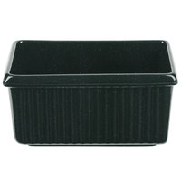 Tablecraft CW1530HGNS 3 Qt. Hunter Green with White Speckle Rectangle Server with Ridges