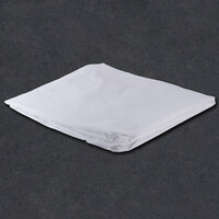 78 inch x 80 inch x 15 inch White King Size 300 Thread Count Cotton / Poly fitted Hotel Sheet - 12/Case