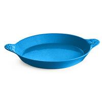 Tablecraft CW2140SBL 3 Qt. Sky Blue Round Au Gratin Dish with Handles