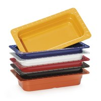 GET ML-29-BUI Assorted Colors Melamine 1/4 Size 2 1/2 inch Deep Food Pan - 6/Case
