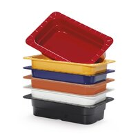 GET ML-17-BUI Assorted Colors Melamine 1/3 Size 2 1/2 inch Deep Food Pan - 6 / Case