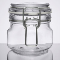 Libbey 17207223 6.75 oz. Garden Jar with Clamp Lid - 6/Case