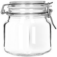 Libbey 17209925 25.25 oz. Garden Jar with Clamp Lid
