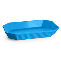 Tablecraft CW2000SBL 2.5 Qt. Sky Blue Cast Aluminum Octagon Casserole Dish