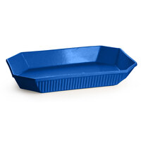 Tablecraft CW2010BL 4.5 Qt. Cobalt Blue Cast Aluminum Octagon Casserole Dish