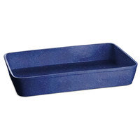 Tablecraft CW20200BS 15 Qt. Blue Speckle Cast Aluminum Extra Large Rectangular Casserole Dish