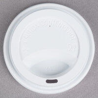 Choice 10, 12, 16, and 20 oz. White Hot Paper Cup Travel Lid - 1000 / Case