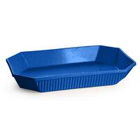 Tablecraft CW2020BL 13 Qt. Cobalt Blue Cast Aluminum Octagon Casserole Dish
