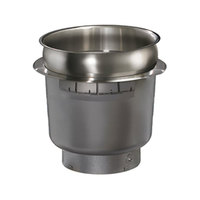 Hatco HWB-7QTD 7 Qt. Single Drop In Round Heated Soup Well with Drain