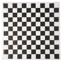 Choice 12 inch x 12 inch Black Check Deli Sandwich Wrap Paper - 1000 / Pack