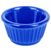Tablecraft CW1650BL 3 oz. Cobalt Blue Cast Aluminum Ramekin
