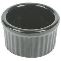 Tablecraft CW1655GY 6 oz. Gray Cast Aluminum Ramekin