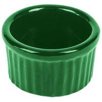 Tablecraft CW1655GN 6 oz. Green Cast Aluminum Ramekin