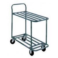 Win-Holt 110 Two Shelf Steel Stocking Cart - 41 inch x 18 inch