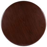 BFM Seating TTRS30RWA Resin 30 inch Round Indoor Tabletop - Walnut