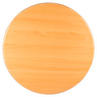 BFM Seating TTRS24RNT Resin 24 inch Round Indoor Tabletop - Natural