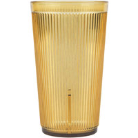 Carlisle 402013 20 oz. Amber Crystalon Stack-All SAN Tumbler   - 12/Case