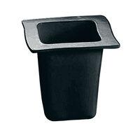 Tablecraft CW3670BK 1 Qt. Black Cast Aluminum Euro Condiment Bowl