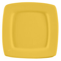 CAC R-S6QYW Clinton Color Square in Square Plate 6 7/8 inch - Yellow 36/Case