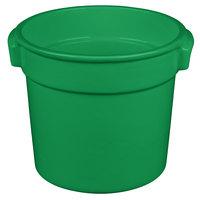 Tablecraft CW1300GN 7 Qt. Green Cast Aluminum Bain Marie Soup Bowl