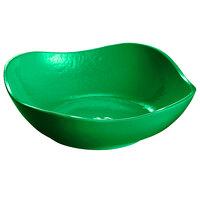 Tablecraft CW12082GN 24 oz. Green Cast Aluminum Wavy Square Bowl