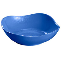 Tablecraft CW12082CBL 24 oz. Cobalt Blue Cast Aluminum Wavy Square Bowl