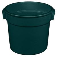Tablecraft CW1300HGN 7 Qt. Hunter Green Cast Aluminum Bain Marie Soup Bowl