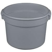 Tablecraft CW1310GY 11 Qt. Gray Cast Aluminum Bain Marie Soup Bowl