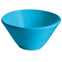 Tablecraft CW13080SBL 2.5 Qt. Sky Blue Cast Aluminum Round Bowl with Rings
