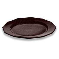 Tablecraft CW1795MIS 13 inch Midnight Speckle Cast Aluminum Round Prism Plate