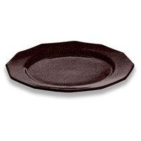 Tablecraft CW1795MIS 13 inch Midnight Speckle Cast Aluminum Round Prism Plate