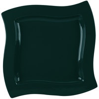 Tablecraft CW3650HGNS 13 inch Square Hunter Green with White Speckle Cast Aluminum Euro Platter