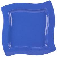 Tablecraft CW3650BS 13 inch Square Blue Speckle Cast Aluminum Euro Platter