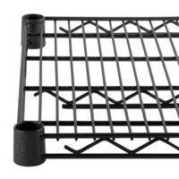 """Regency 18"""" x 24"""" NSF Black Epoxy Wire Shelf"""