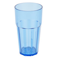 12 oz. Blue Polycarbonate Diamond Tumbler - 12 / Case