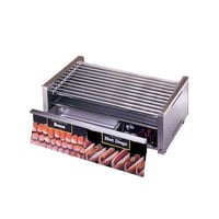 Star Grill Max 30CBD 30 Hot Dog Roller Grill with Chrome Plated Rollers and Bun Drawer
