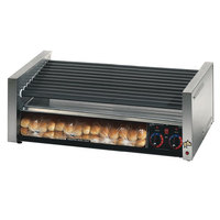 Star Grill Max 50SCBBC 50 Hot Dog Roller Grill with Duratec Non-Stick Rollers and Bun Drawer with Clear Door