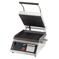 Star Pro Max GR28ITB 14 inch x 28 inch Smooth Iron Top & Bottom Panini Sandwich Grill with Electronic Timer