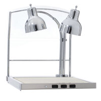 Alto-Shaam CS-200S Heated Dual Lamp Carving Station with Sneeze Guard - 120V