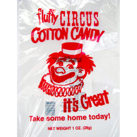 Paragon 7850 12 inch x 18 inch Printed Plastic Cotton Candy Bag - 1000 / Case