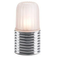 Sterno Products 85212 Ribbed Brushed Chrome Lamp Base