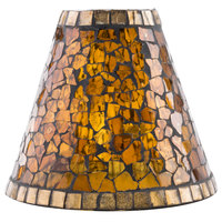 Sterno Products 85426 Amber Mosaic Lamp Shade
