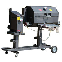 R & V Works Cajun FF1 Fryer and 30 inch Grill Combo - 180,000 BTU, LP
